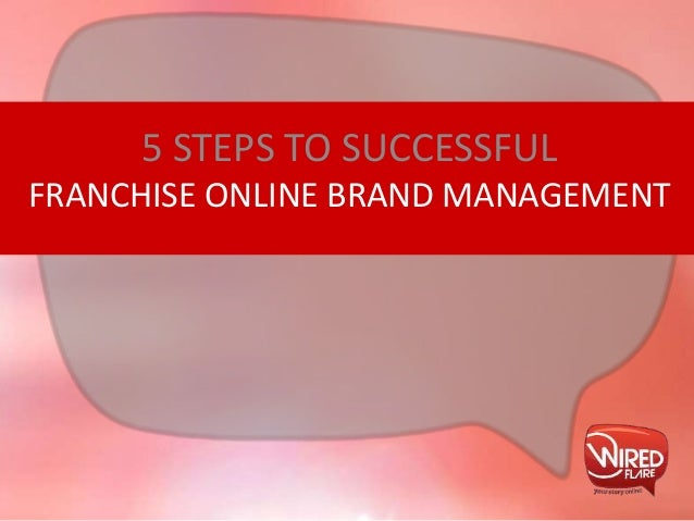 FRANCHISE ONLINE BRAND MANAGEMENT 5 STEPS TO SUCCESSFUL