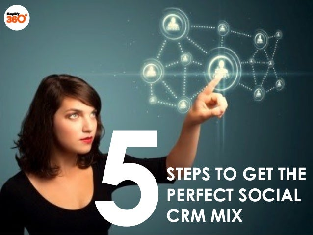 STEPS TO GET THESTEPS TO GET THE PERFECT SOCIALPERFECT SOCIAL CRM MIXCRM MIX