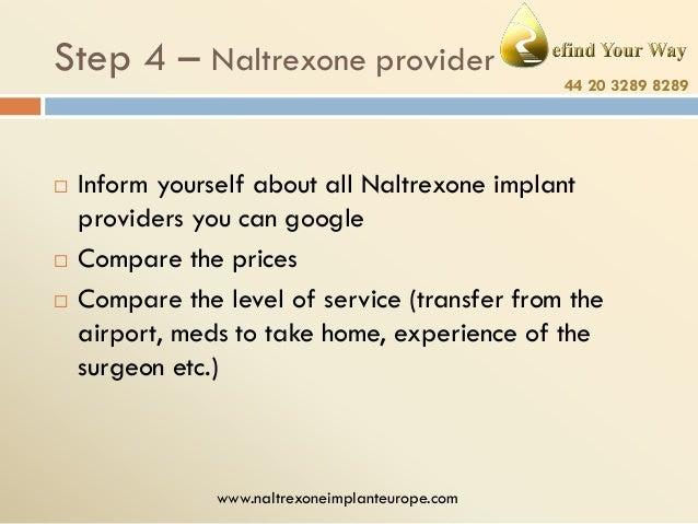 Naltrexone providers