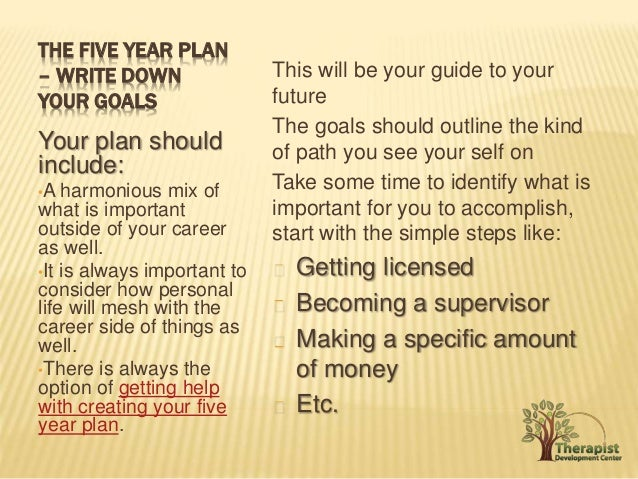 5 year plan after graduation A four-year course plan that fulfills graduation requirements and aligns with career and educational goals, and a resume or activity log by the end of twelfth grade.