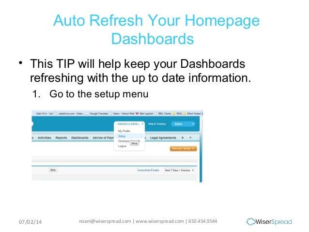 5 Steps to Auto Refresh Dashboard Data Using Salesforce com