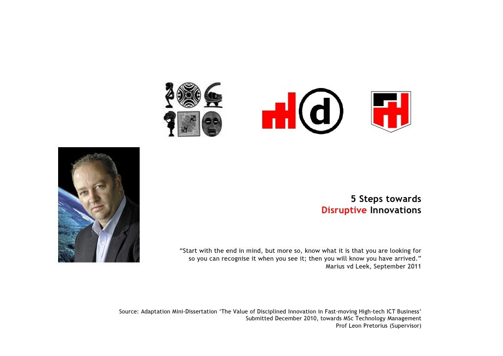 5 Steps towards                                                                           Disruptive Innovations          ...