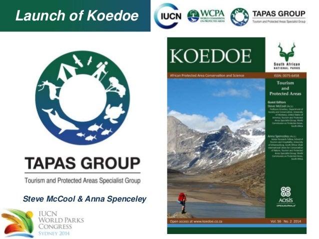 Launch of Koedoe  Steve McCool & Anna Spenceley
