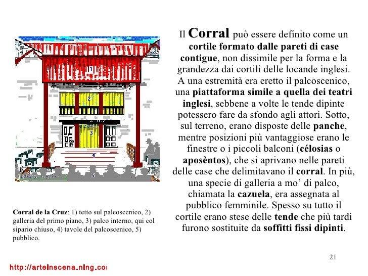 Il  Corral   può essere definito come un  cortile formato dalle pareti di case contigue , non dissimile per la forma e la ...