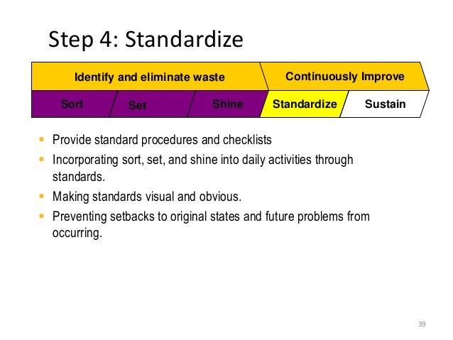 5s Standardize Checklist Examples – Articleblog info