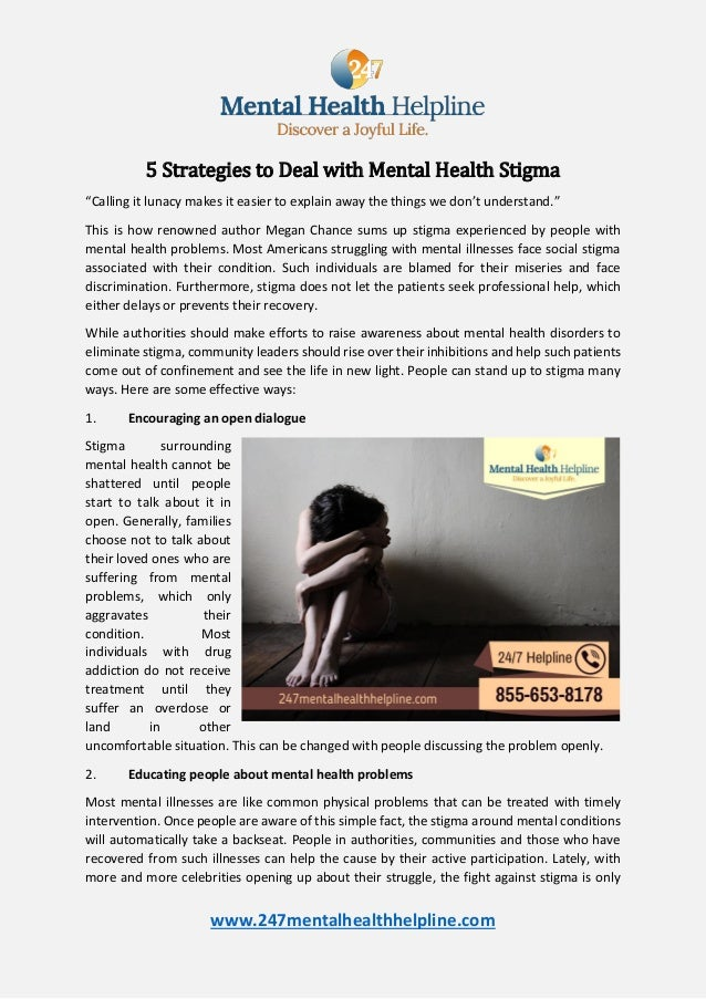 5 Strategies To Deal With Mental Health Stigma