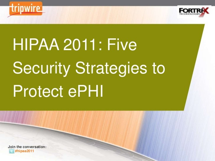 HIPAA  – Five Security Strategies to Protect ePHI