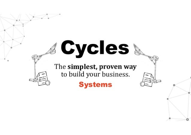 Cycles The simplest,provenway to build your business. Systems
