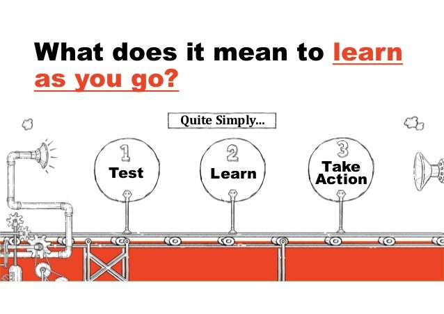 Your hypothesis matters  Hypothesis, Test, Learn  Take Action