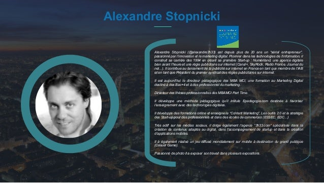 "#PortraitDeStartuper 31 Alexandre Stopnicki Alexandre Stopnicki (@alexandre3h33) est depuis plus de 20 ans un ""sérial entr..."