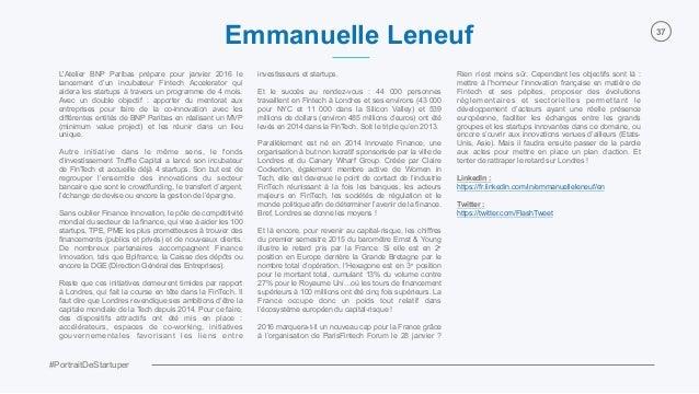 #PortraitDeStartuper 37 L'Atelier BNP Paribas prépare pour janvier 2016 le lancement d'un incubateur Fintech Accelerator q...