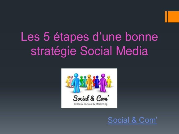 Les 5 étapes d'une bonne  stratégie Social Media               Social & Com'