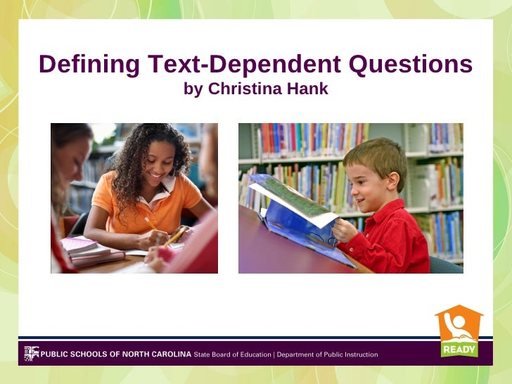 text questions 2 The question-answer relationship (qar) strategy helps students understand the different types of questions by learning that the answers to some questions are right there in the text, that some answers require a reader to think and search, and that some answers can only be answered on my.