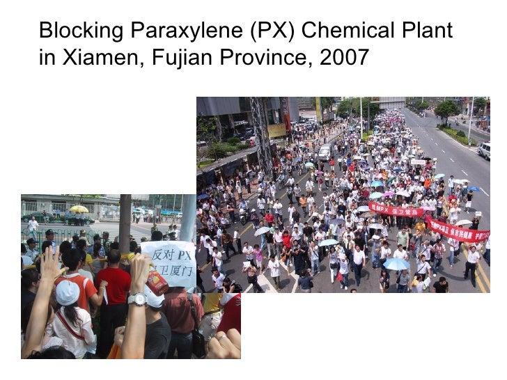 Blocking Paraxylene (PX) Chemical Plantin Xiamen, Fujian Province, 2007