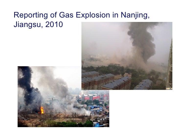 Reporting of Gas Explosion in Nanjing,Jiangsu, 2010
