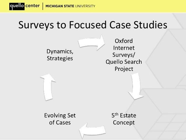 Surveys to Focused Case Studies