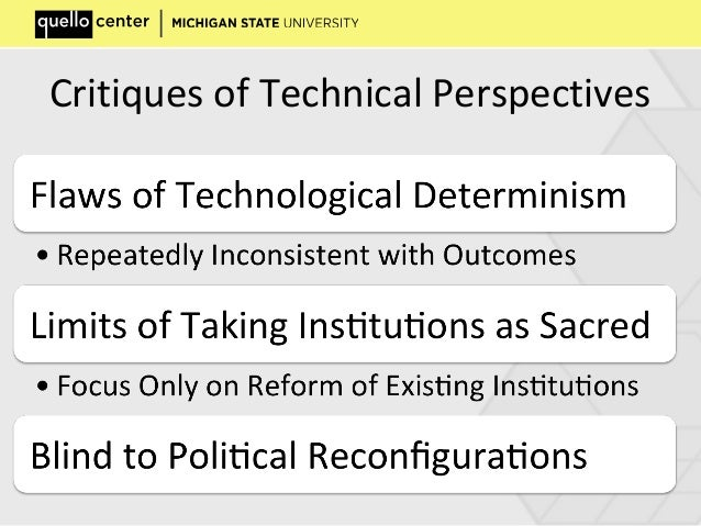Critiques of Technical Perspectives