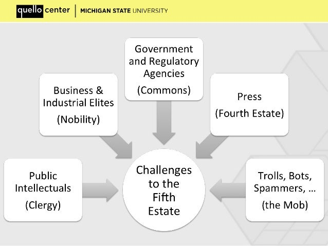 Political Transformations in Network Societies - the fifth estate