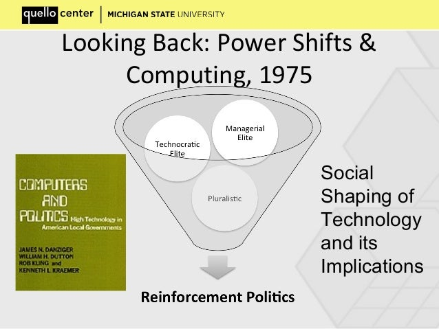 Looking Back: Power Shifts & Computing, 1975 Social Shaping of Technology and its Implications
