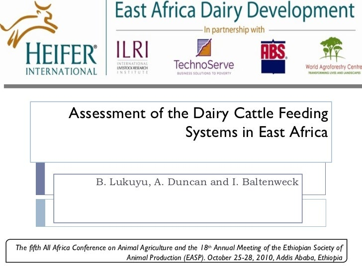 Assessment of the dairy cattle feeding systems in East Africa