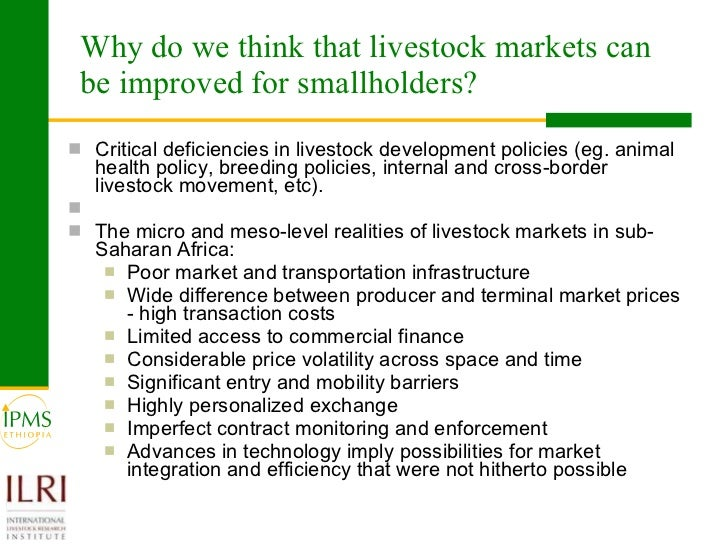 Difference Between Foyer And Entry : Livestock markets and smallholders in sub saharan africa