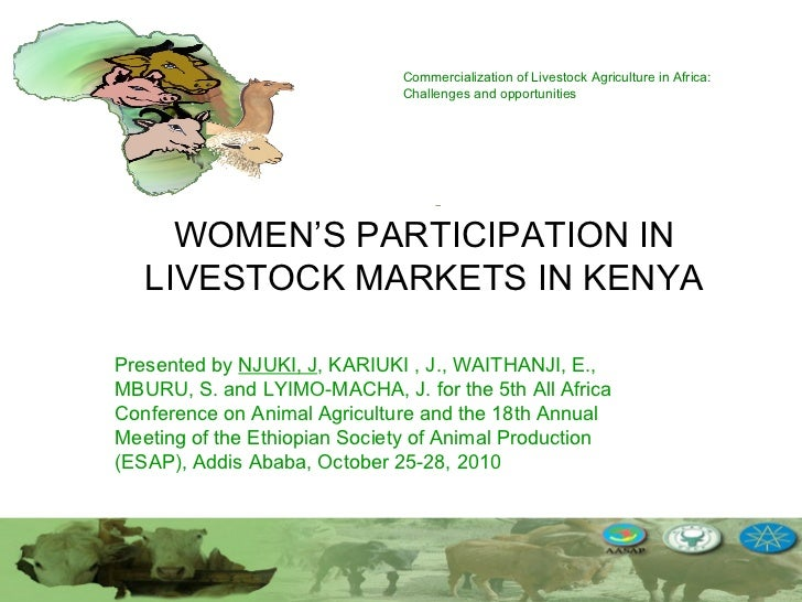 Women's participation in livestock markets in Kenya