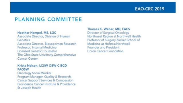 5th Annual Early Age Onset Colorectal Cancer Summit Session Iii