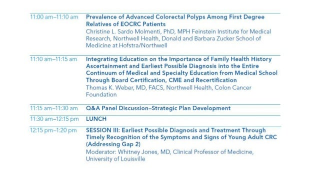 5th Annual Early Age Onset Colorectal Cancer Session V Part I