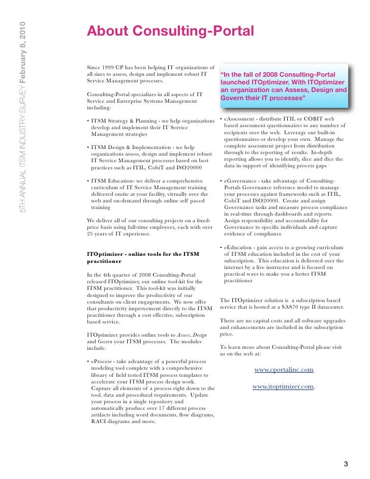 Technology Management Image: Consulting-portal's Top 5 ITSM Trends In 2010