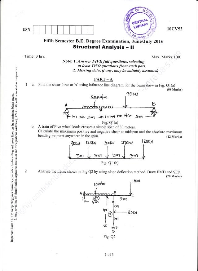 5th semester july 2016 civil engineering question paper 10 ccuart Images
