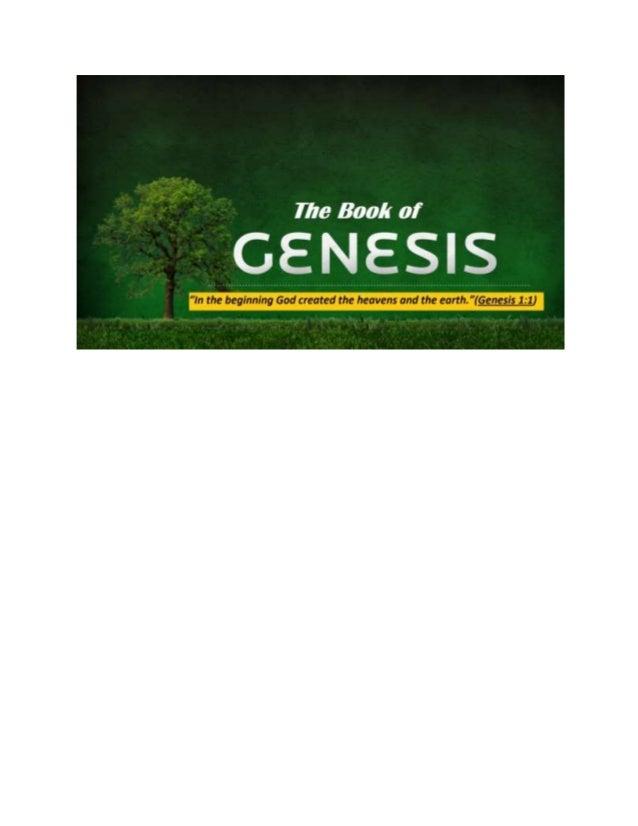 5th December 2016  - The Bible - Book of Genesis Slide 3