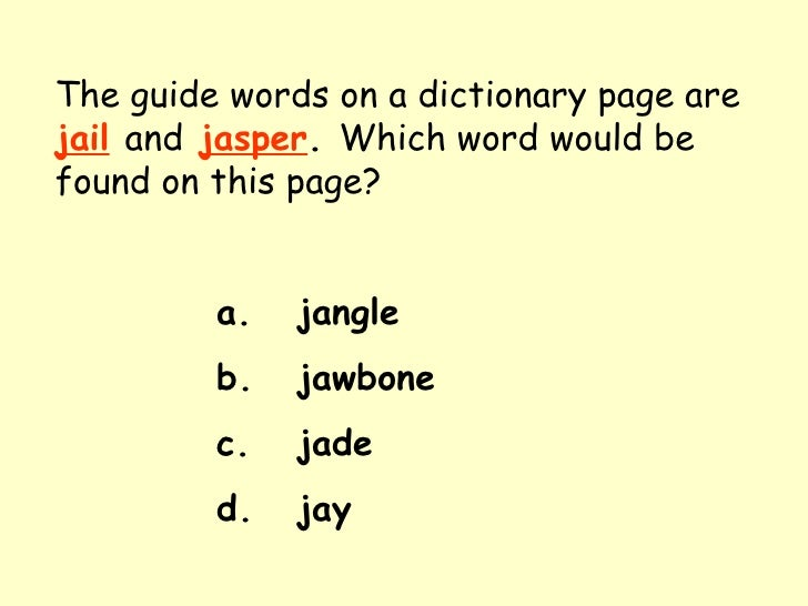 5th dictionary guide words rh slideshare net Dictionary Guide Words Practice Worksheets Dictionary Guide Words Printable