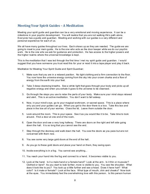 meeting your spirit guide meditation script