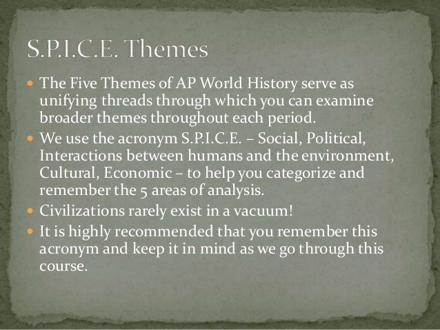 5 themes of world history