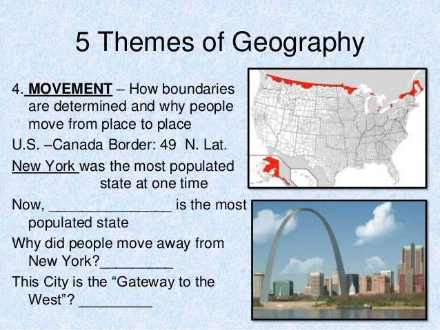 5 themes of geography notes 3 – The Five Themes of Geography Worksheet