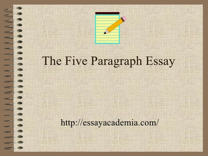 write a 5 paragragh essay