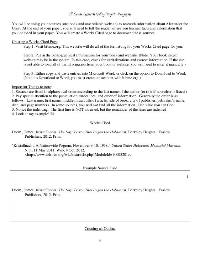 Custom term paper outline template 5th grade