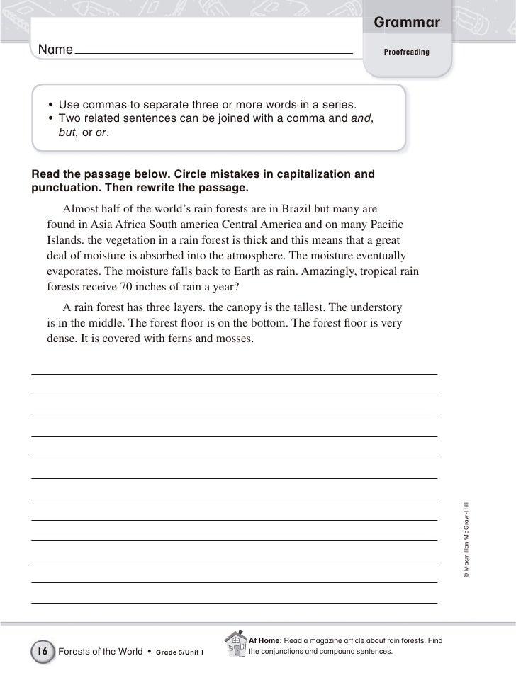 math worksheet : 5th grade grammar : Mcgraw Hill Math Worksheets Grade 5