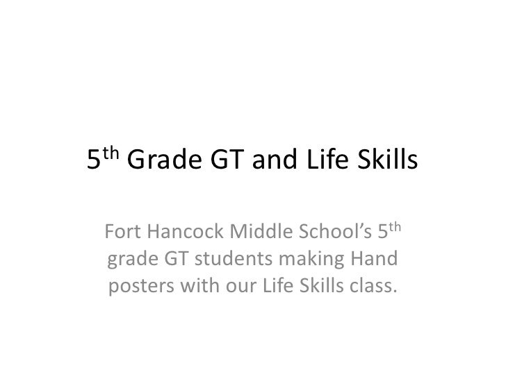 5th Grade GT and Life Skills<br />Fort Hancock Middle School's 5th grade GT students making Hand posters with our Life Ski...