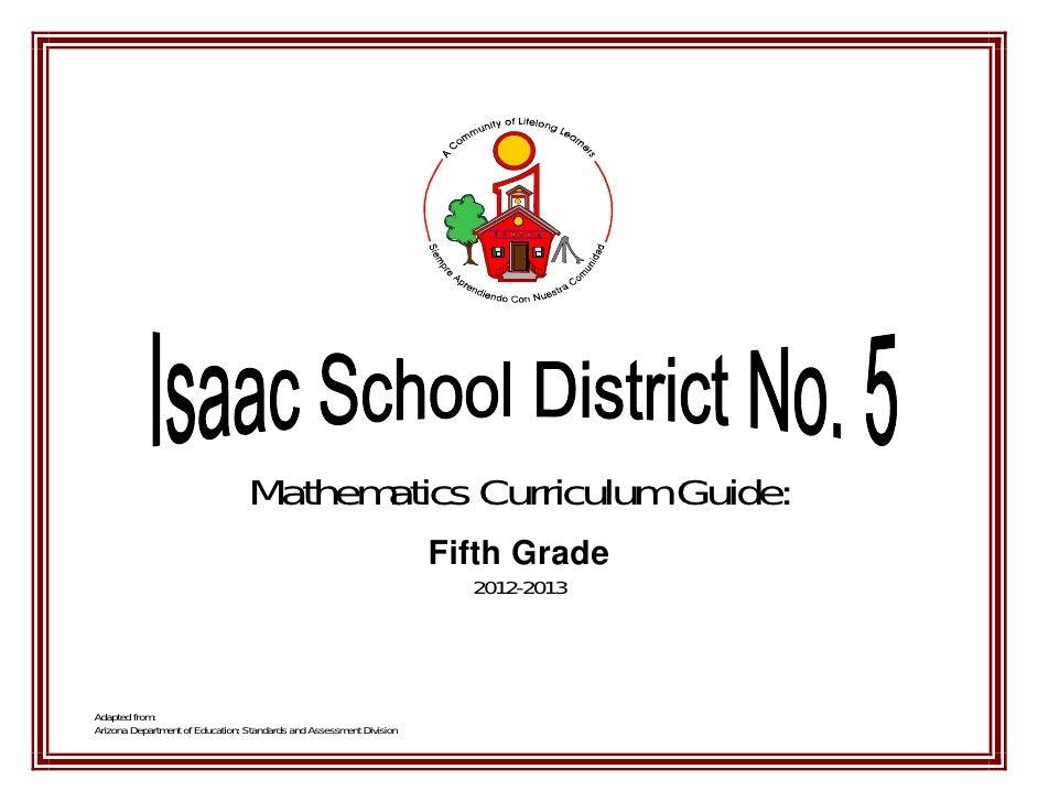 Mathematics Curriculum Guide:                                                                     Fifth Grade             ...