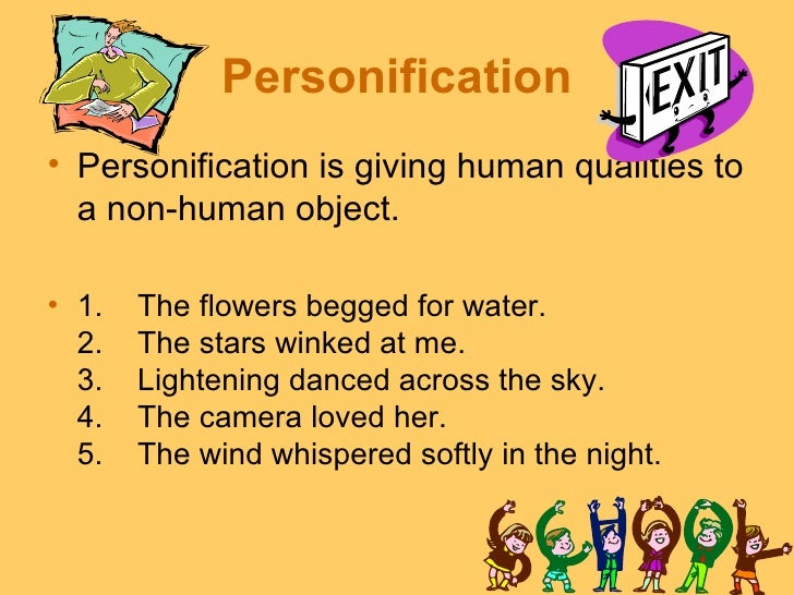 th grade poetry unit personification• personification