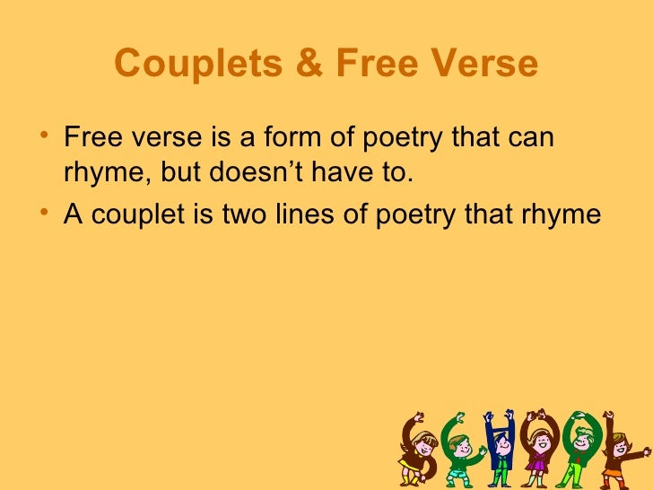 how to write a free verse poem for kids These tips will help you write your best free verse poetry yet a free or blank verse poem doesn't follow any specific guidelines instead.