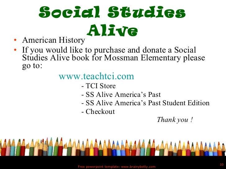 5th grade powerpoint social studies toneelgroepblik Images