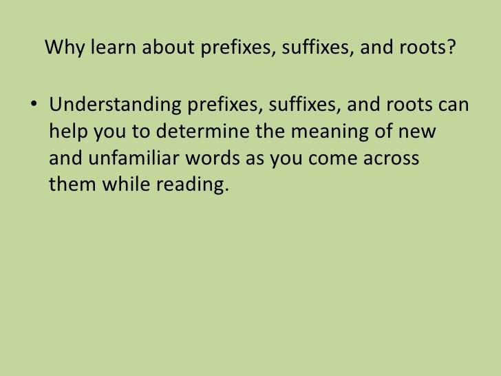 5th Grade Prefixes Suffixes Roots