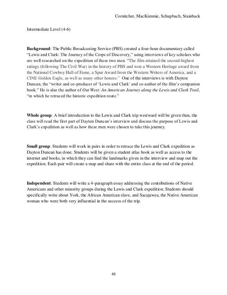th grade resource unit us history