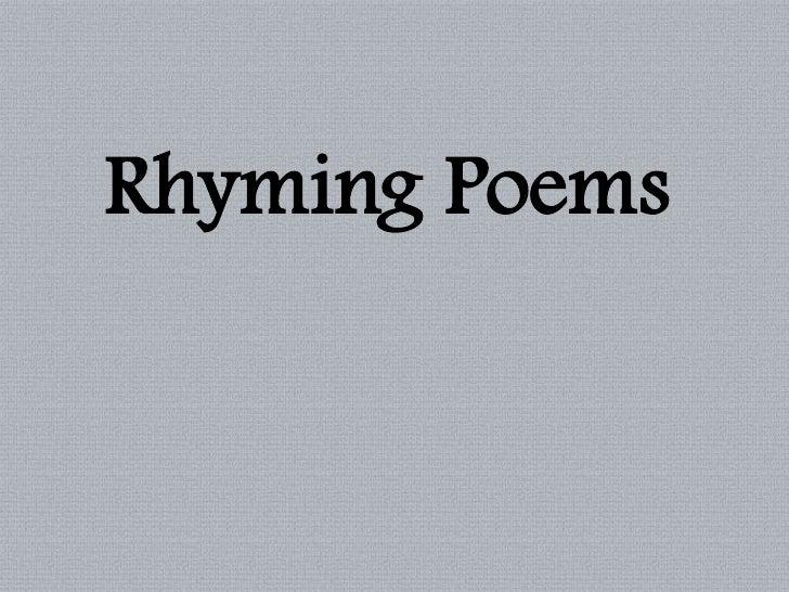 Rhyming Poems