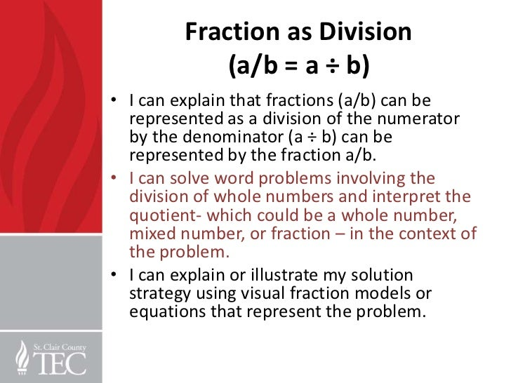 5th grade word problems and fractions pd – Fractions As Division Worksheets