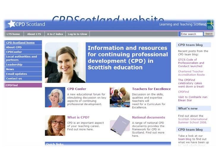 CPDScotland  website