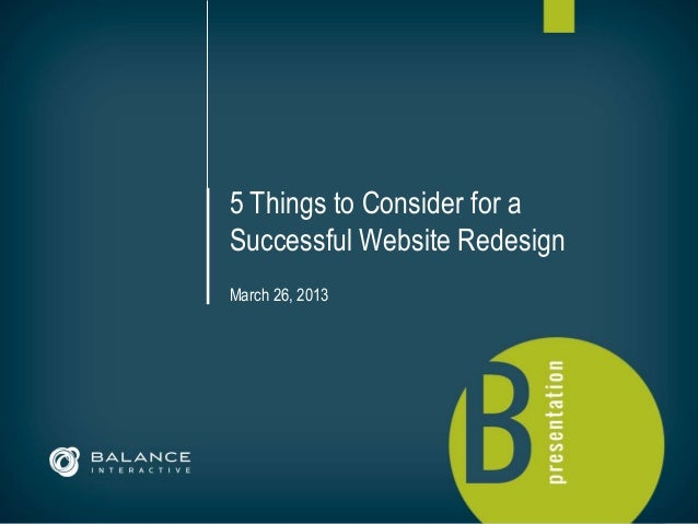 5 Things to Consider for a                                               Successful Website Redesign                      ...