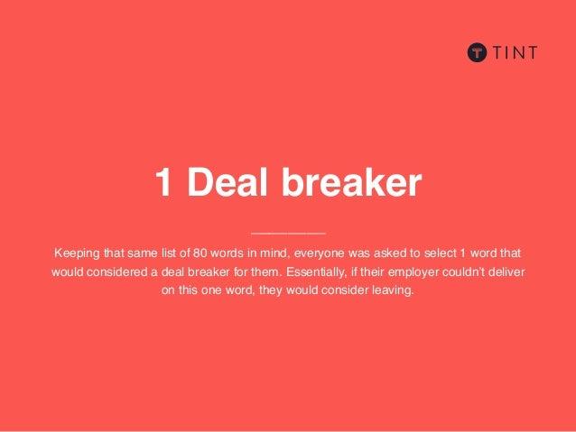 Deal-Breaker für Jungs